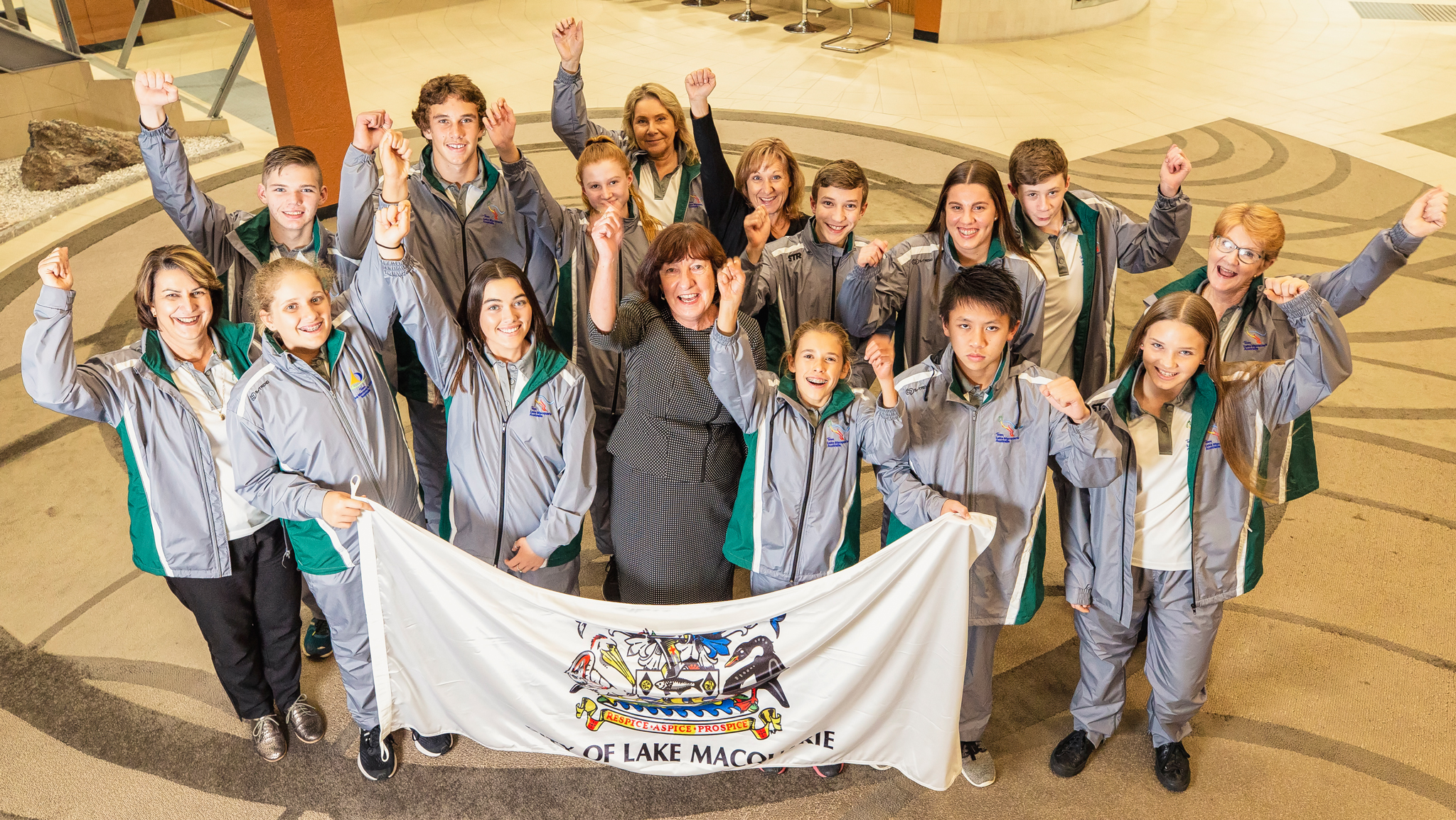 Eleven young athletes who will represent Lake Macquarie at the International Children's Games in Jerusalem next month were guests of honour at a ceremony at Lake Macquarie City Council on Tuesday 12 June 2018.