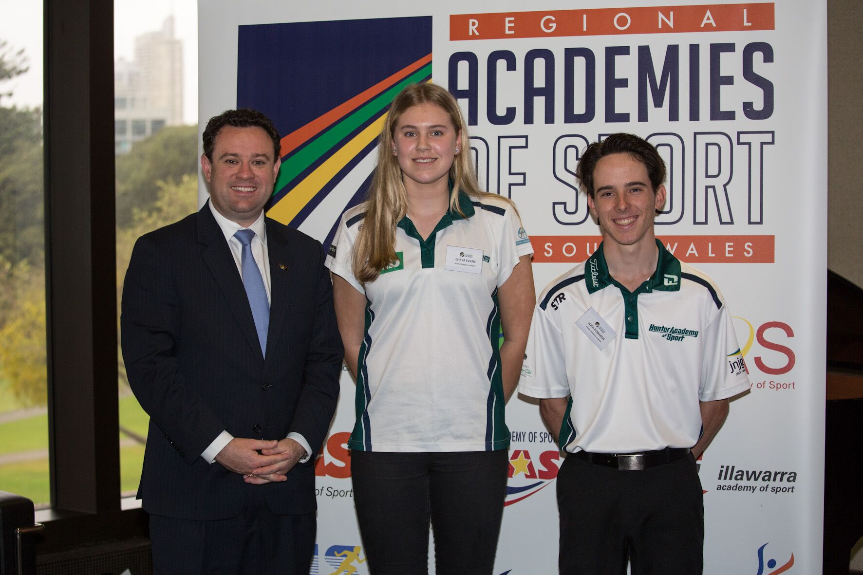 TWO Hunter Academy of Sport athletes were chosen to represent the Hunter Region at the annual Regional Academies of Sport parliamentary reception at the NSW Parliament House last month.