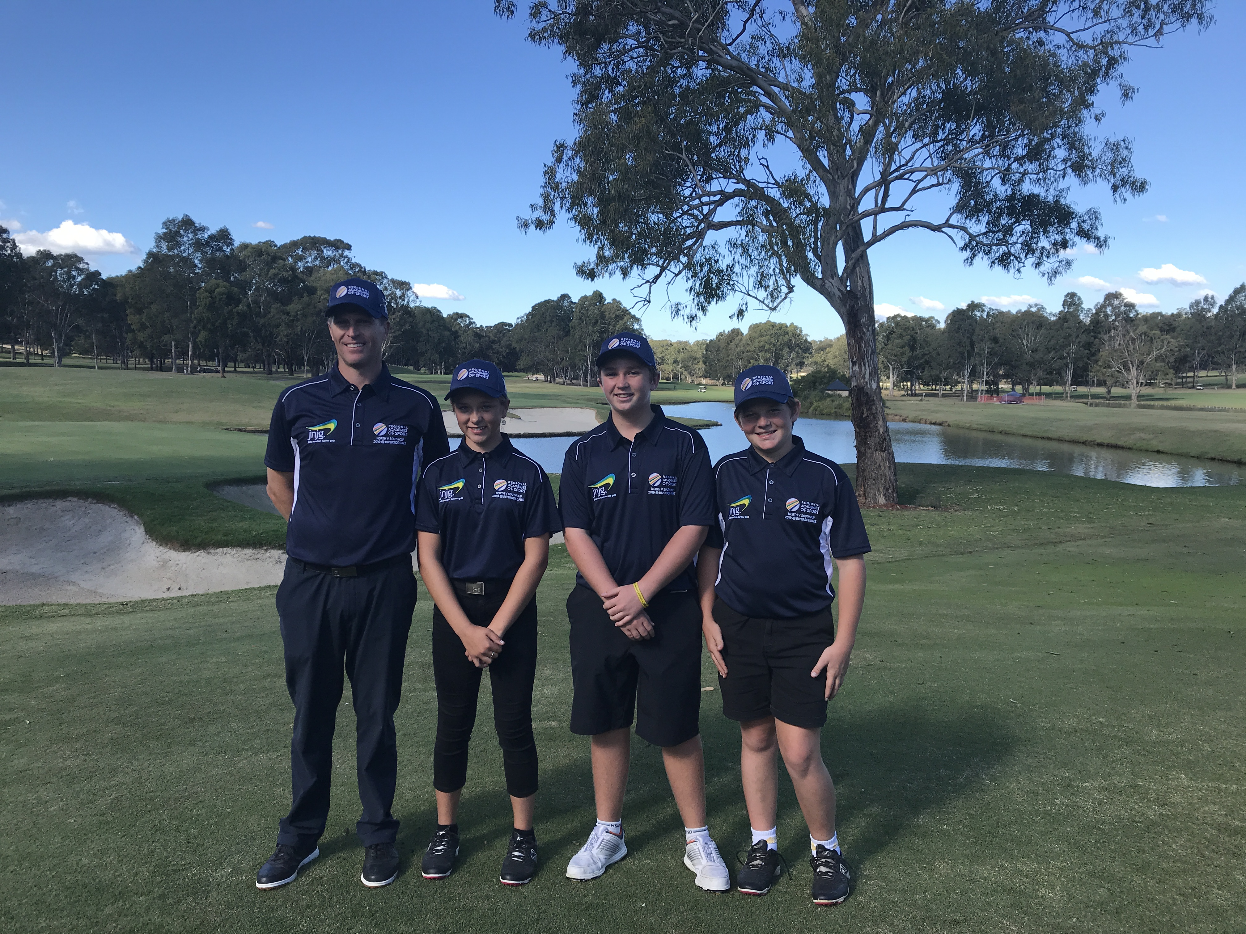 Three Hunter Academy of Sport golfers recently represented Team North at the 2019 North vs South Academy Challenge at the Riverside Oaks Golf Club in Cattai.
